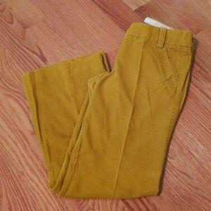 J crew mustard corduroy city fit trouser size 2